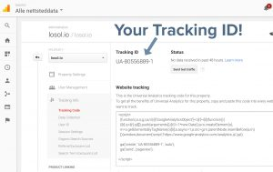 Here is your tracking ID.