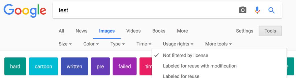 Google image search screenshot