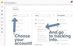 Expand the Tracking info, and click tracking code.